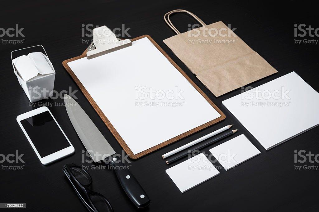 Restaurant letterhead design mockup stock photo