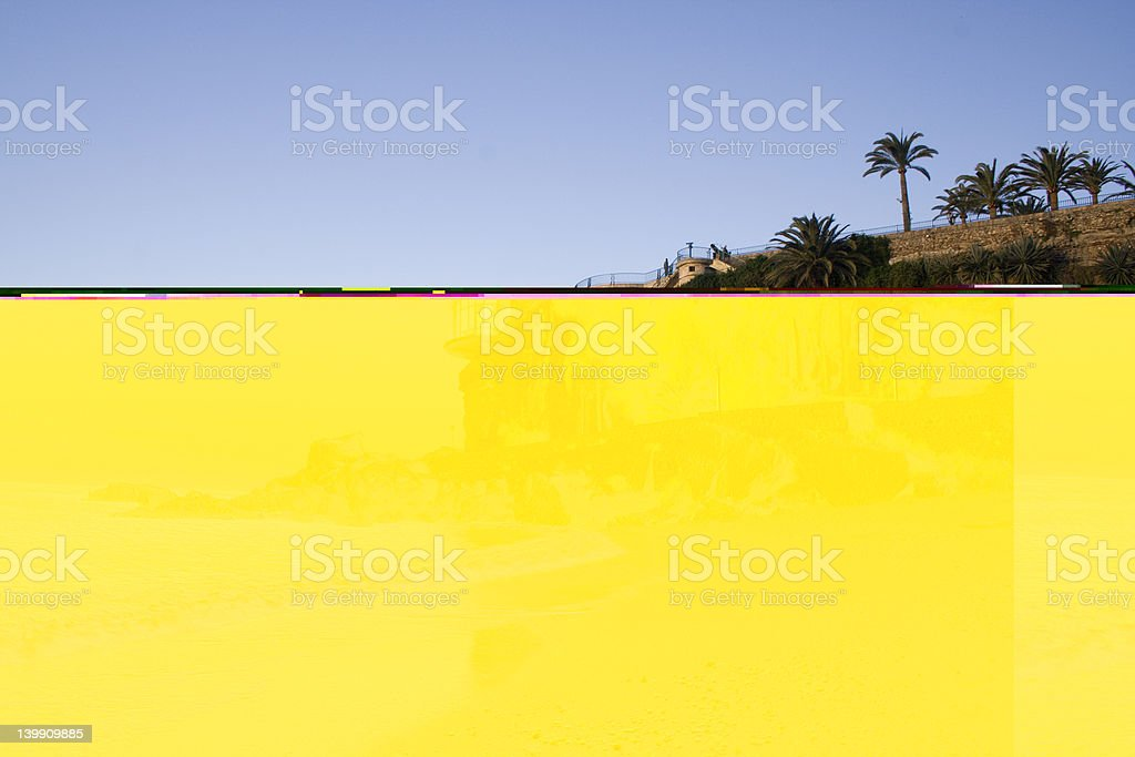 Restaurant Looking over the sea royalty-free stock photo