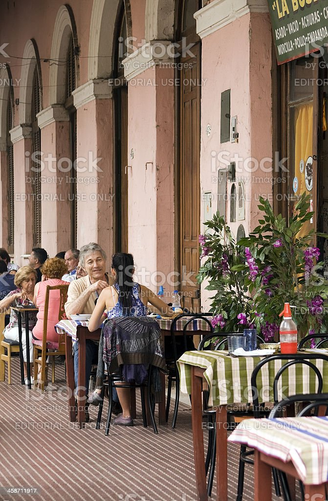 Restaurant low the arcade stock photo
