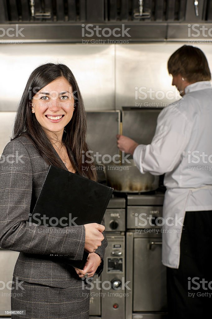 Restaurant Manager stock photo