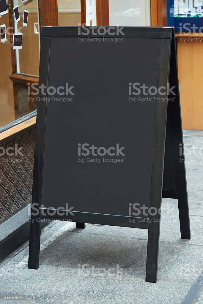 Restaurant menu blank board stock photo