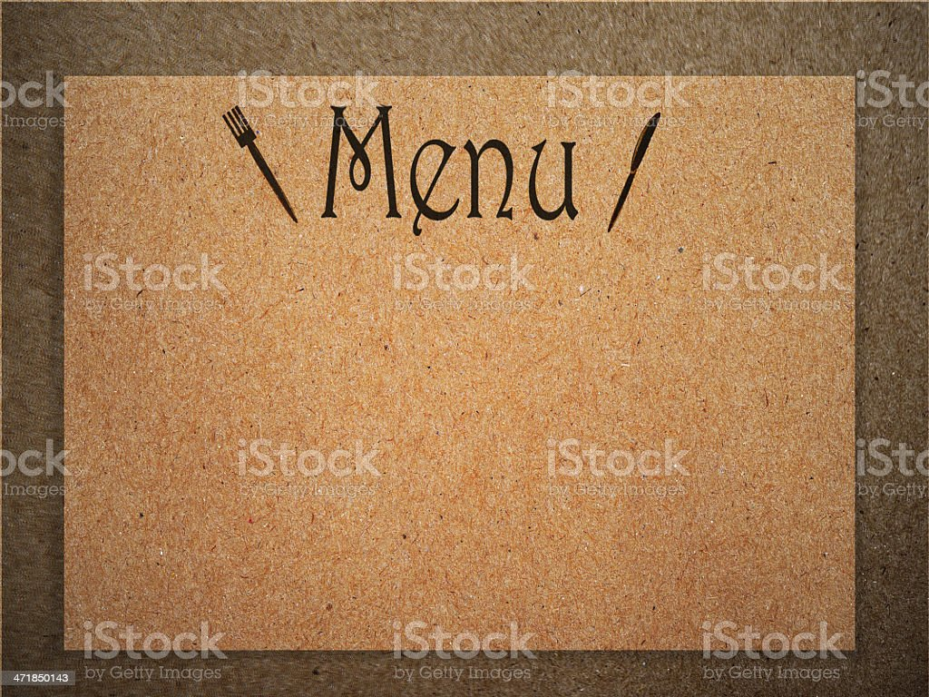 Restaurant menu design. doodle icon in vintage style with paper royalty-free stock photo