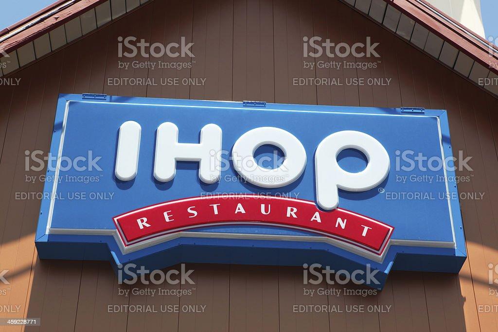 IHOP Restaurant neon sign stock photo