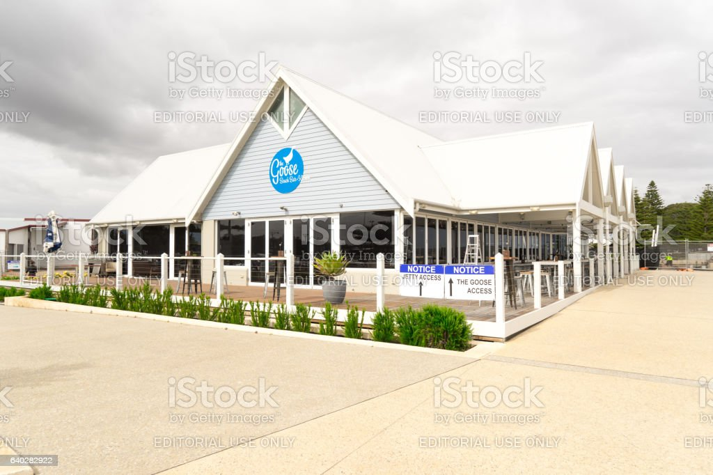 Restaurant on Busselton Jetty stock photo