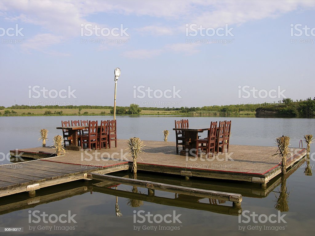 Restaurant On The Lake royalty-free stock photo