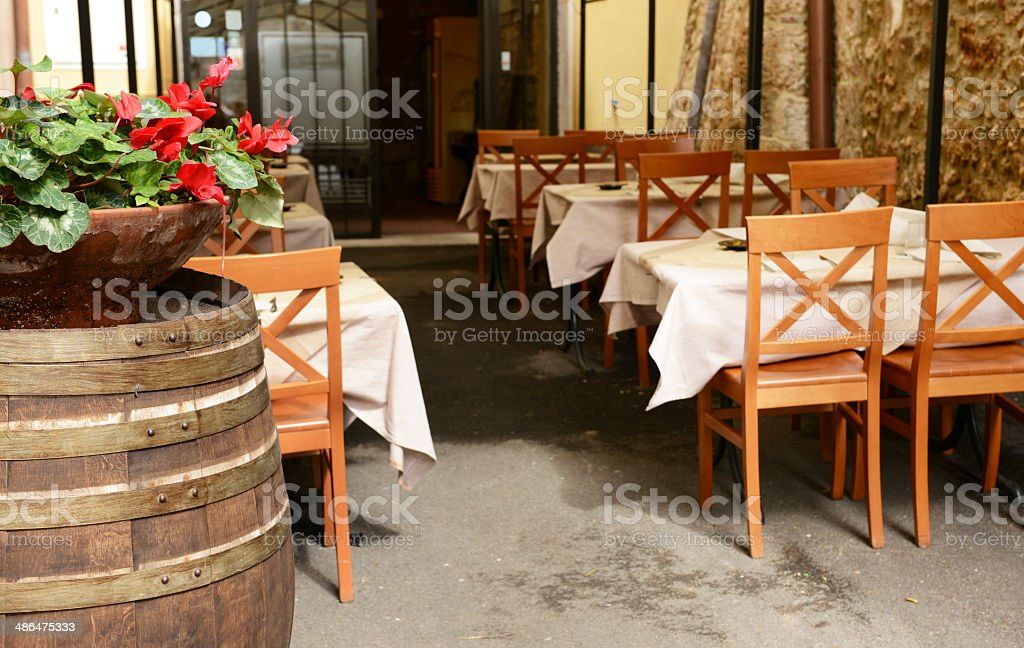 Restaurant Outdoor stock photo