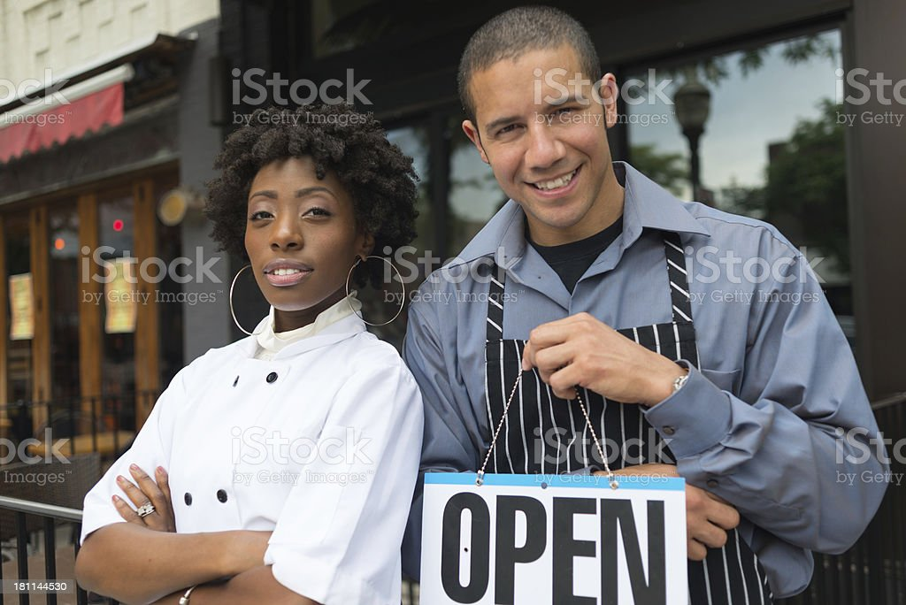 Restaurant Owners royalty-free stock photo