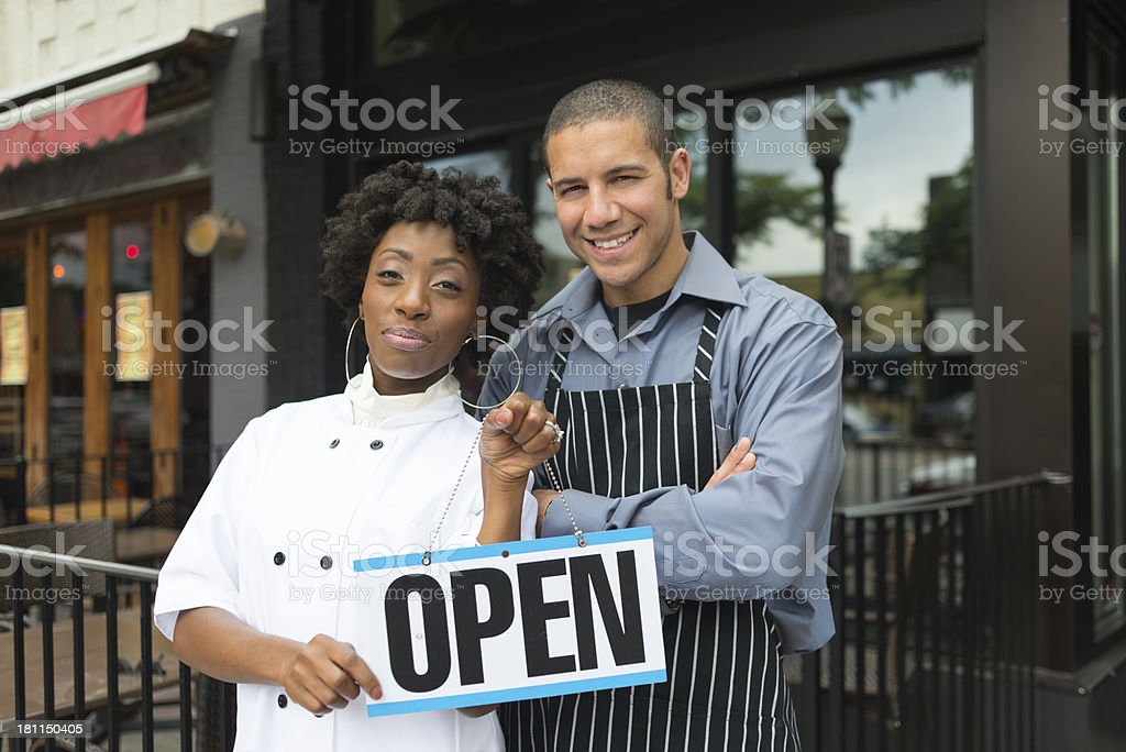 Restaurant Owners stock photo
