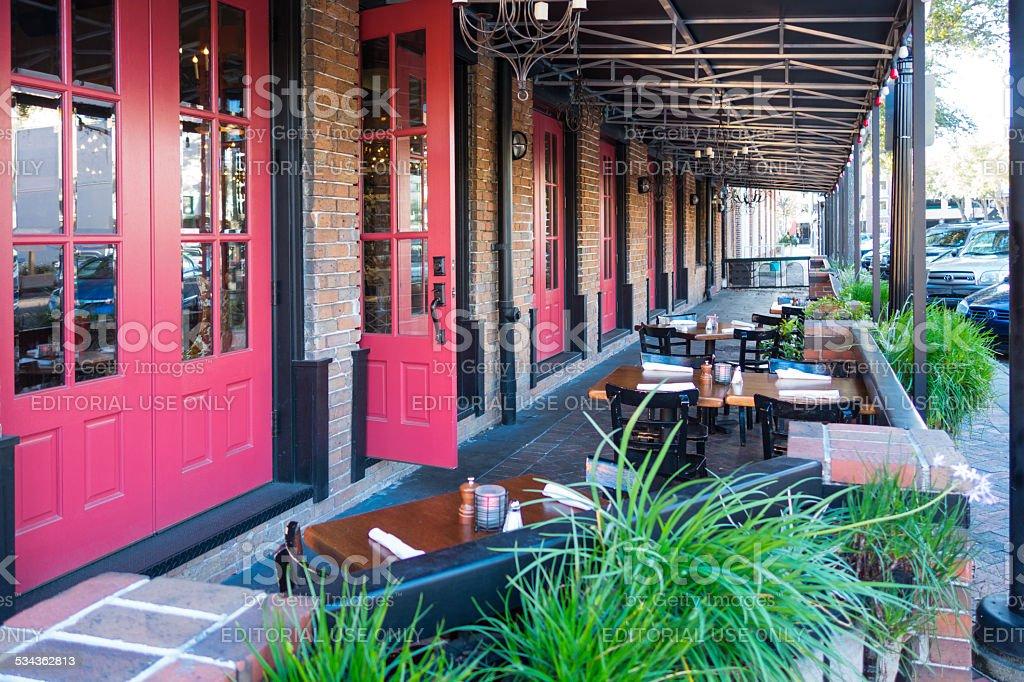 Restaurant Patio, Gainesville, Florida stock photo
