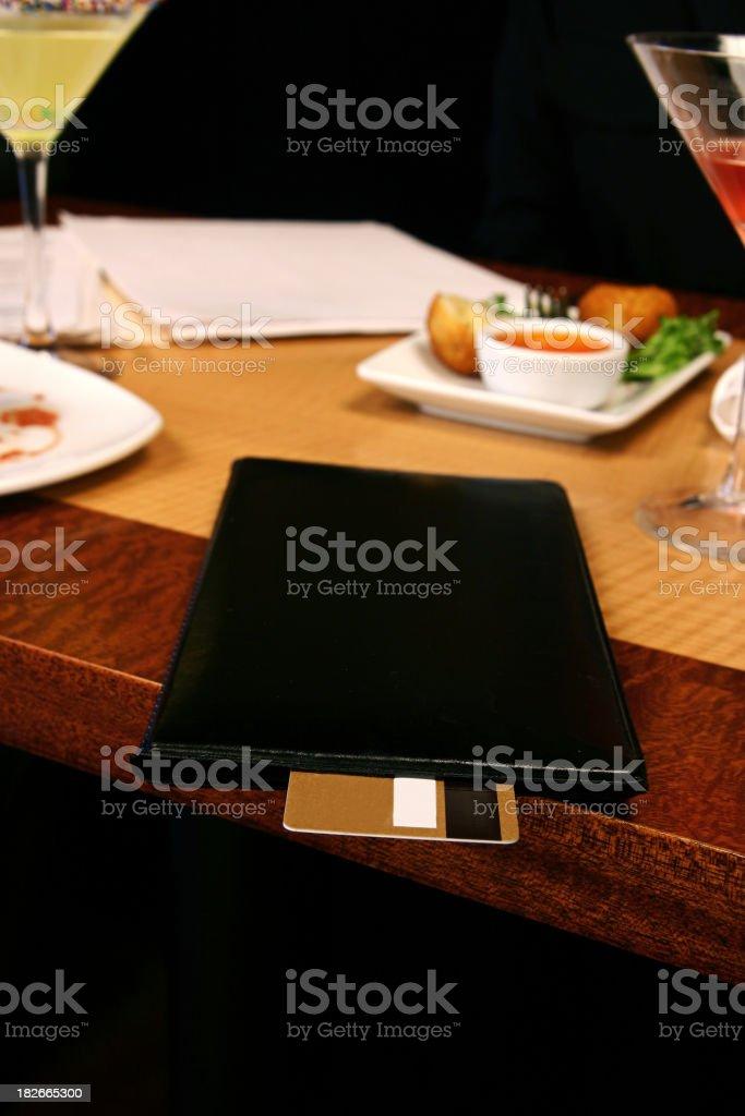 Restaurant Payment stock photo