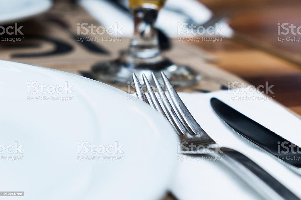 Restaurant Place Setting stock photo