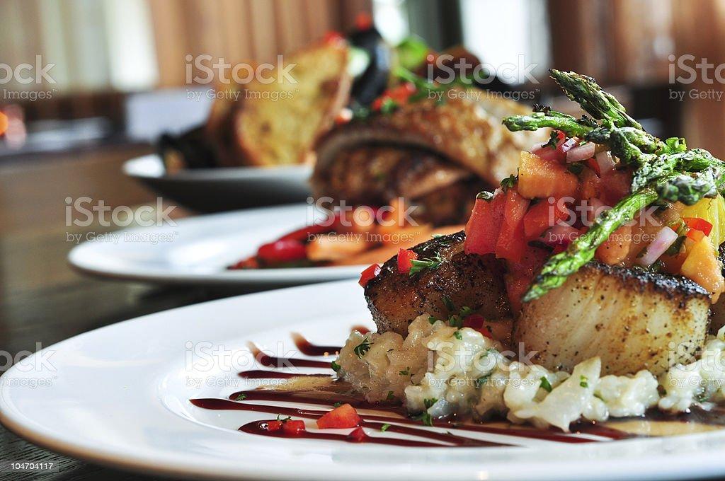 Restaurant Plates royalty-free stock photo