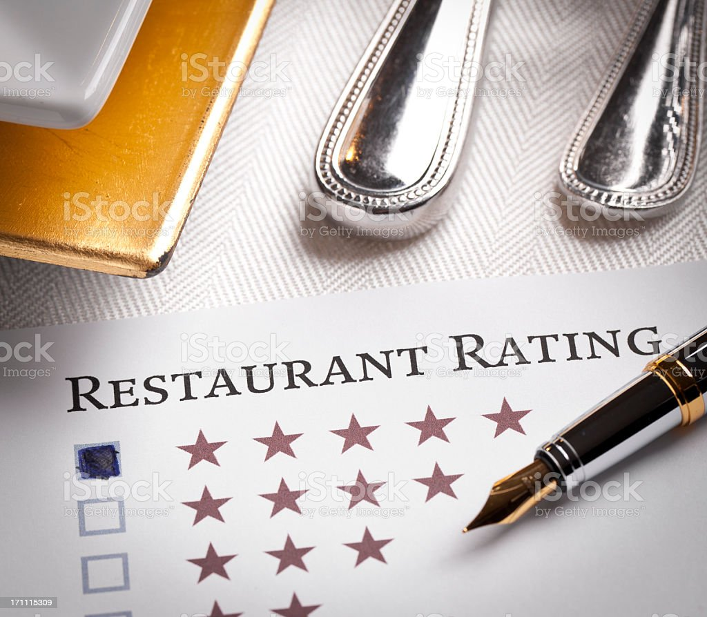 Restaurant Rating royalty-free stock photo