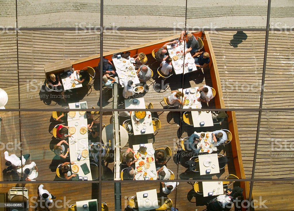 Restaurant Reflection royalty-free stock photo