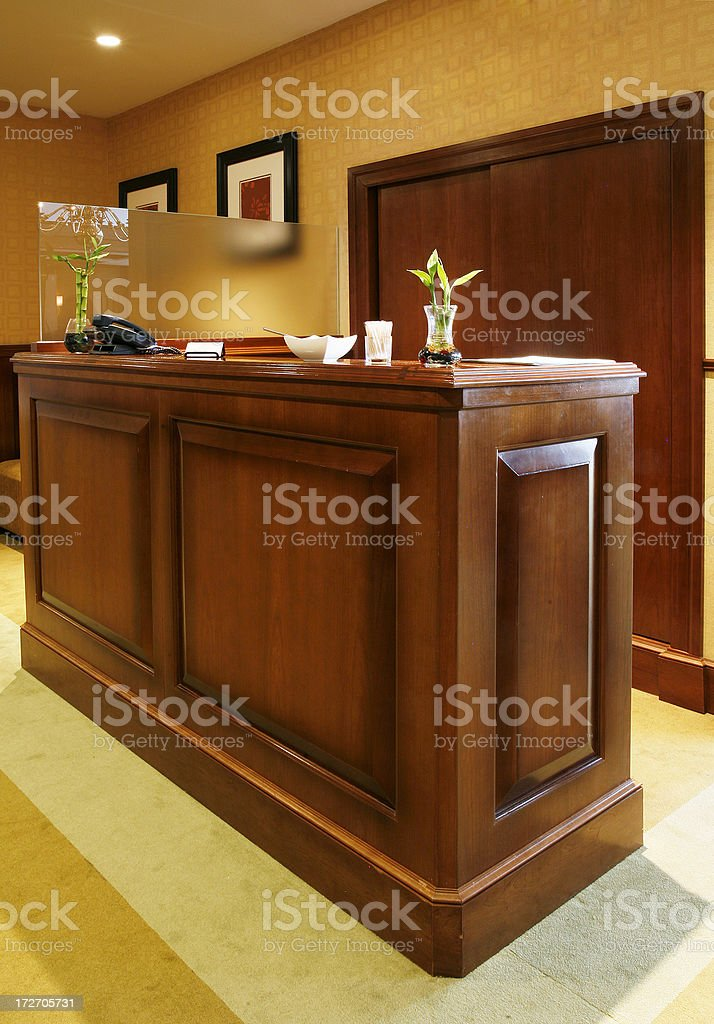 Restaurant reservation desk royalty-free stock photo
