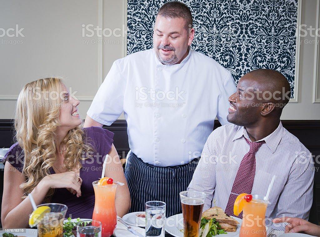 Restaurant Server royalty-free stock photo