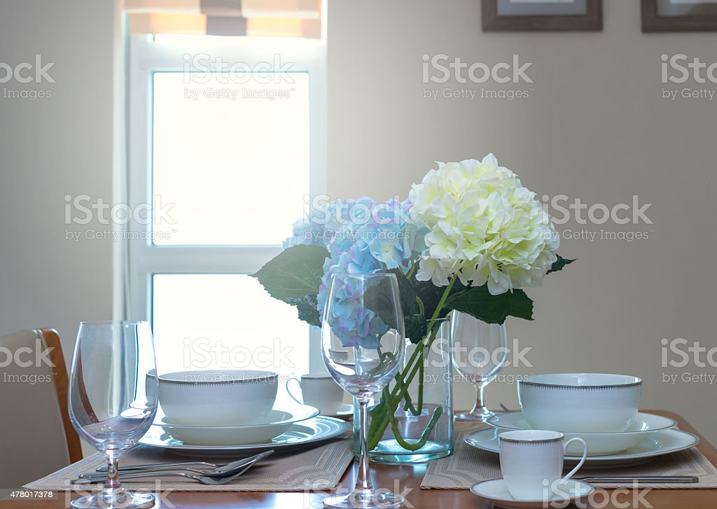 restaurant set with Luxury Interior living room background stock photo