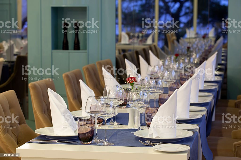 Restaurant Setting stock photo