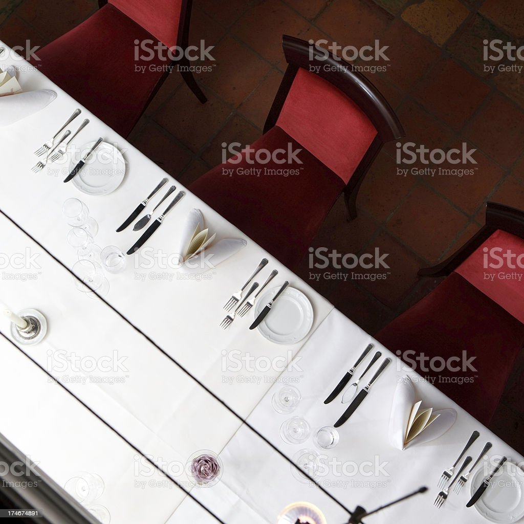 Restaurant Settings royalty-free stock photo