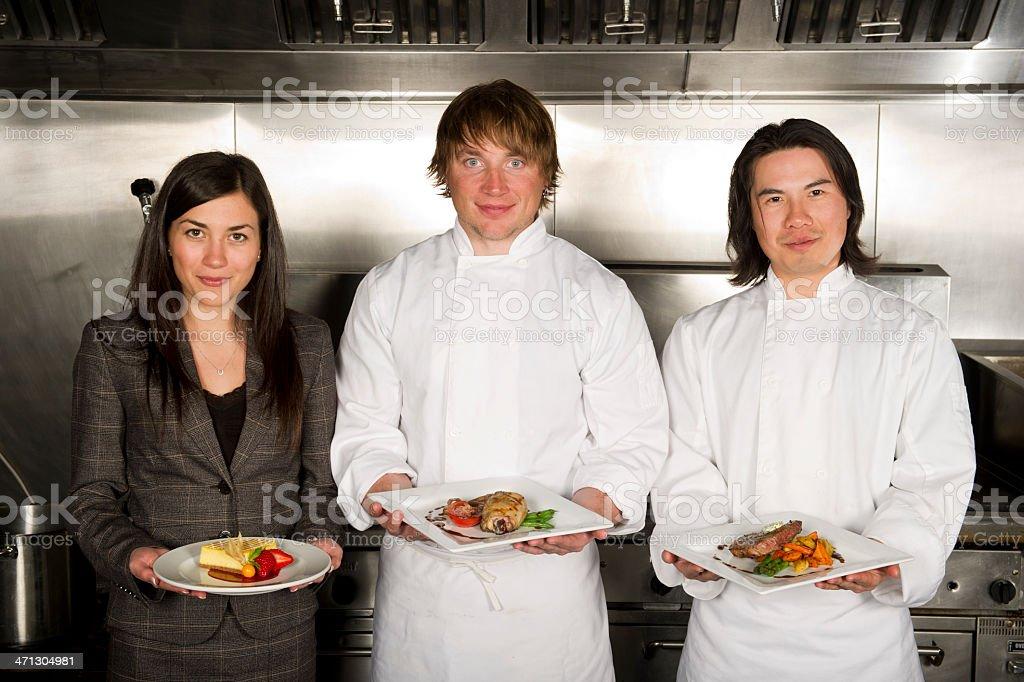 Restaurant Staff royalty-free stock photo