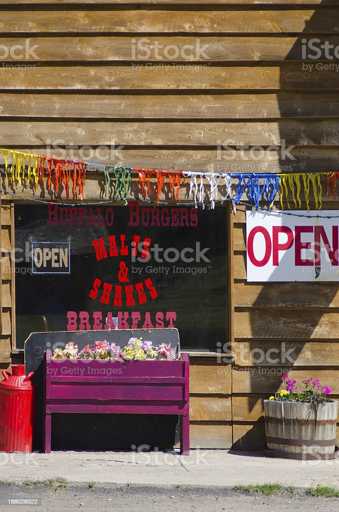 Restaurant Store Front and Window stock photo