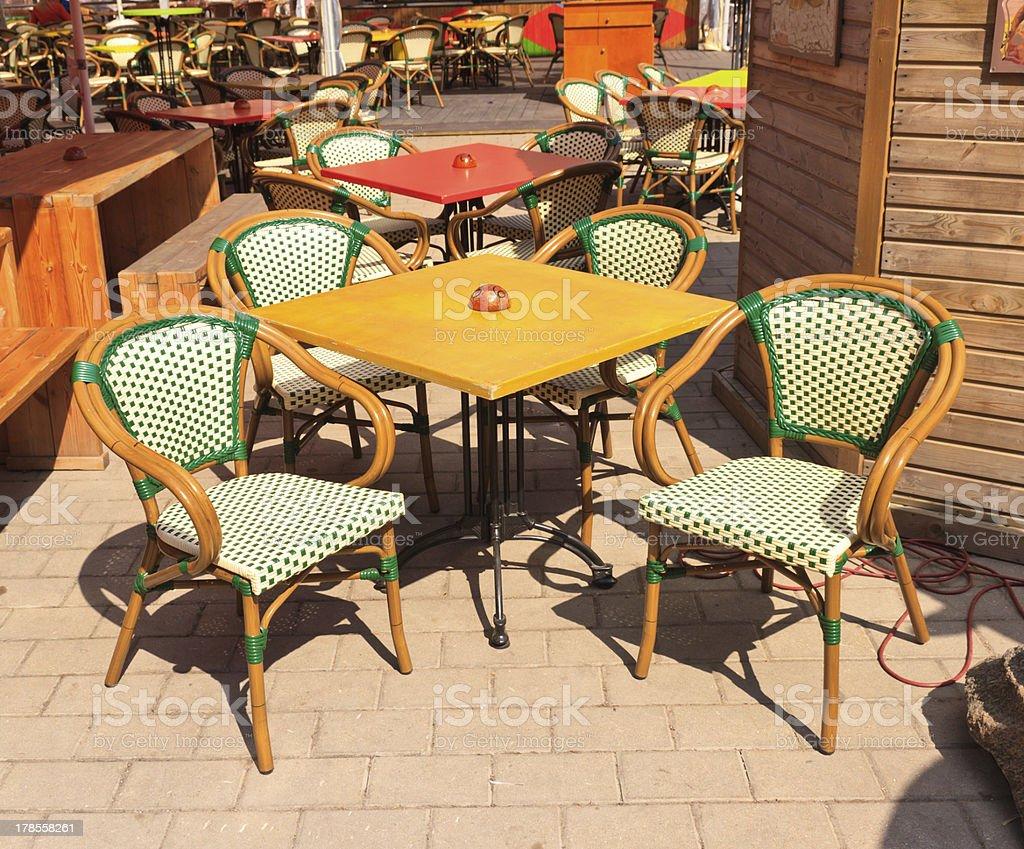 Restaurant summer terrace royalty-free stock photo