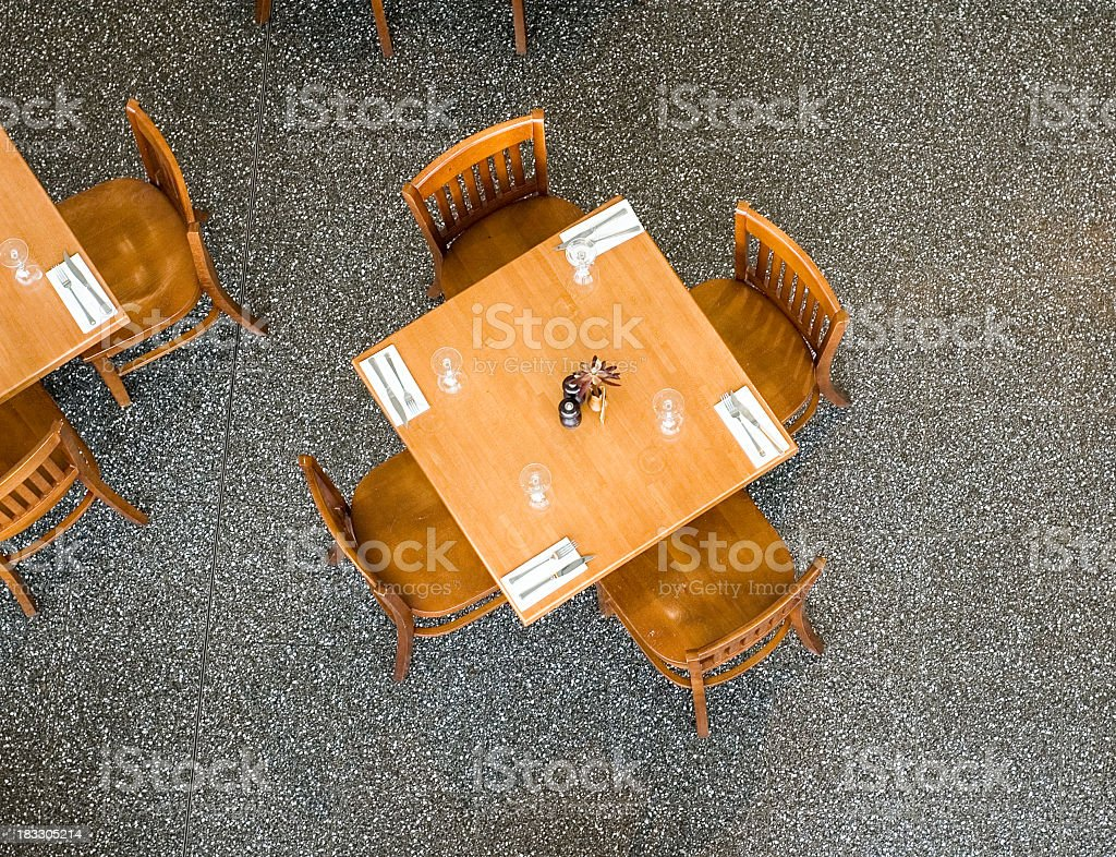 Restaurant Table From Above royalty-free stock photo