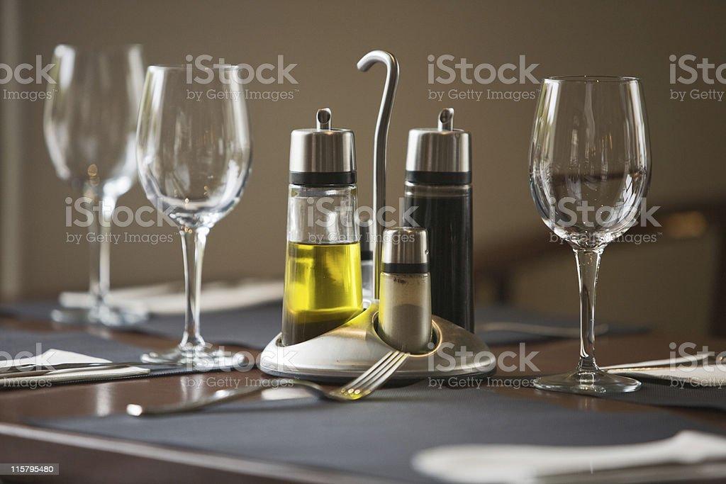 Restaurant table royalty-free stock photo