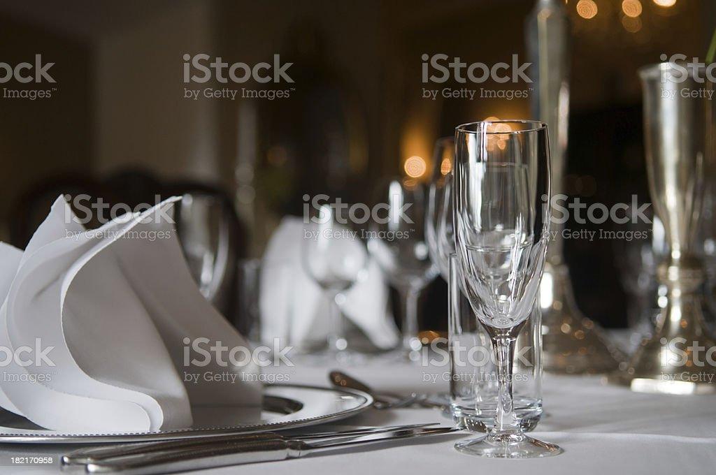 Restaurant table. royalty-free stock photo