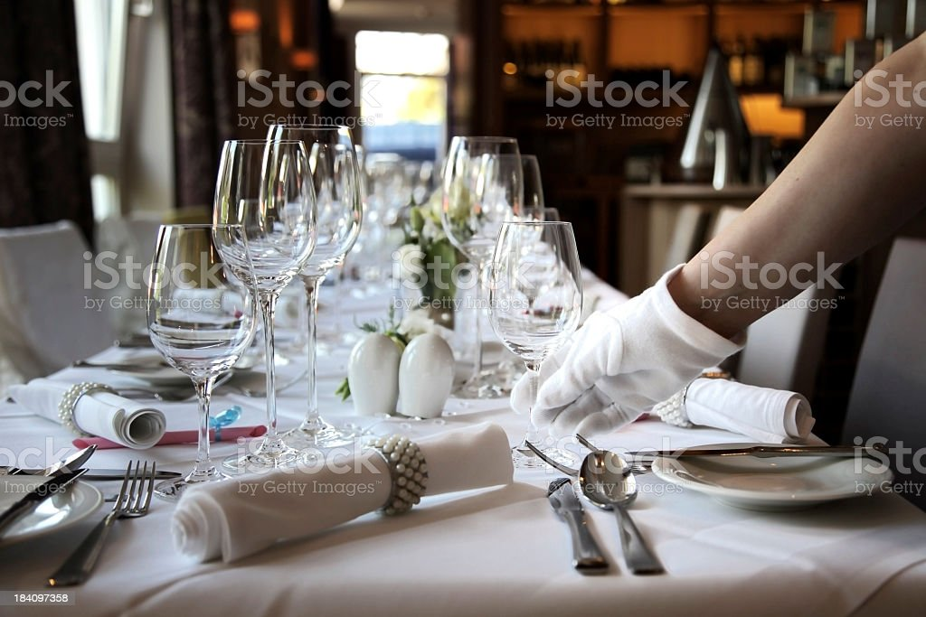 Restaurant Table royalty-free stock photo