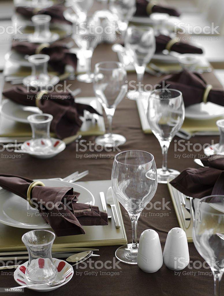 restaurant table setting royalty-free stock photo