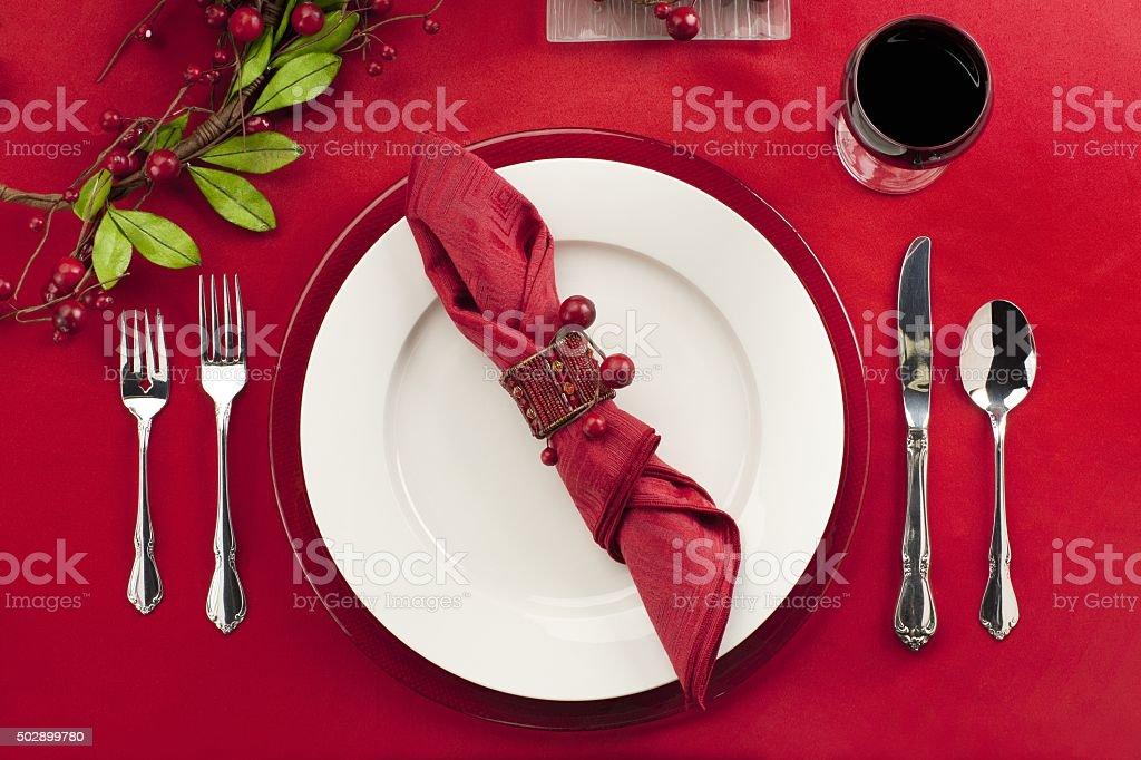 restaurant table setting stock photo
