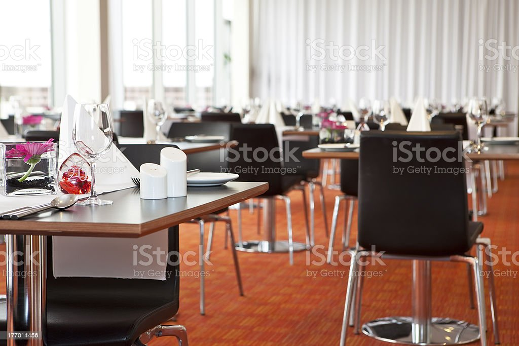 Restaurant table setup royalty-free stock photo