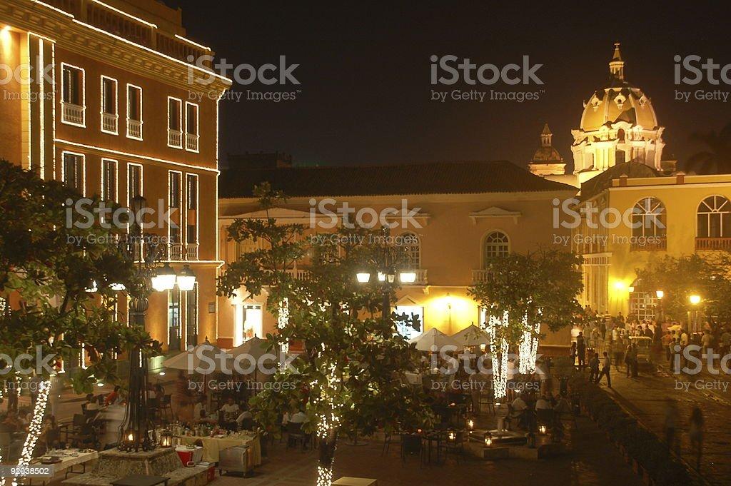 Cartagena nocy zbiór zdjęć royalty-free