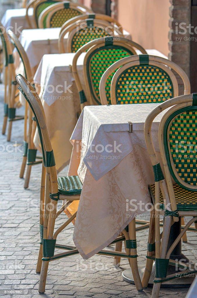 Restaurant tables royalty-free stock photo