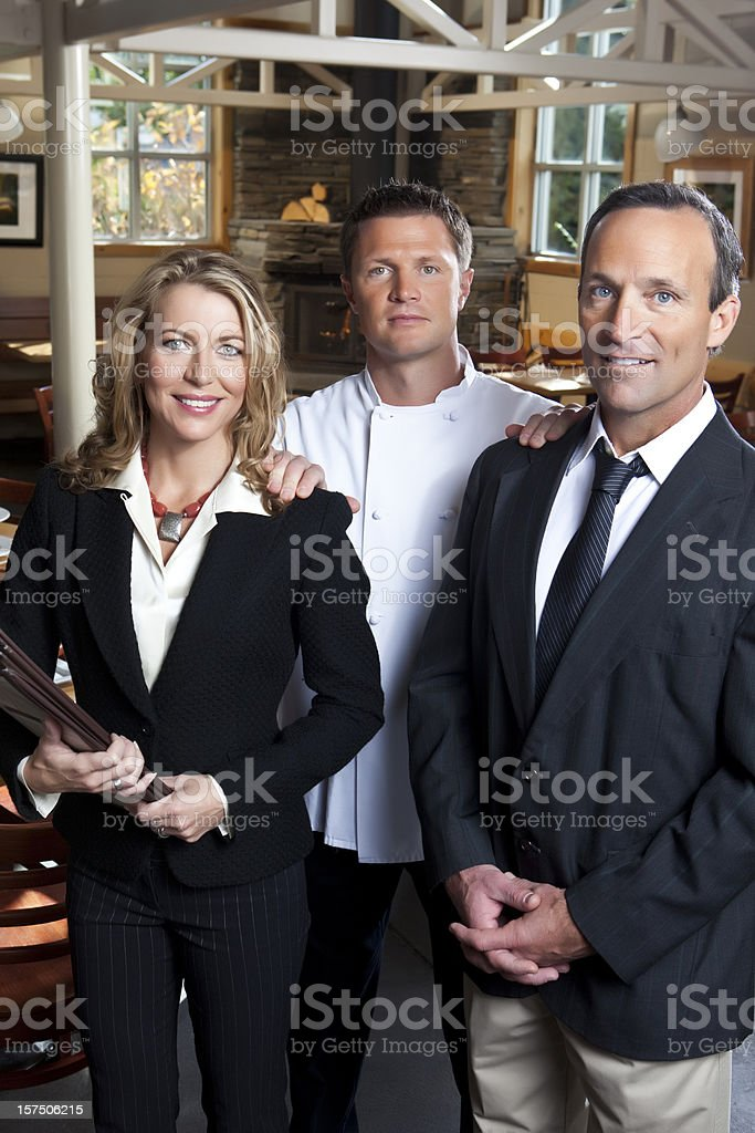 Restaurant Team royalty-free stock photo