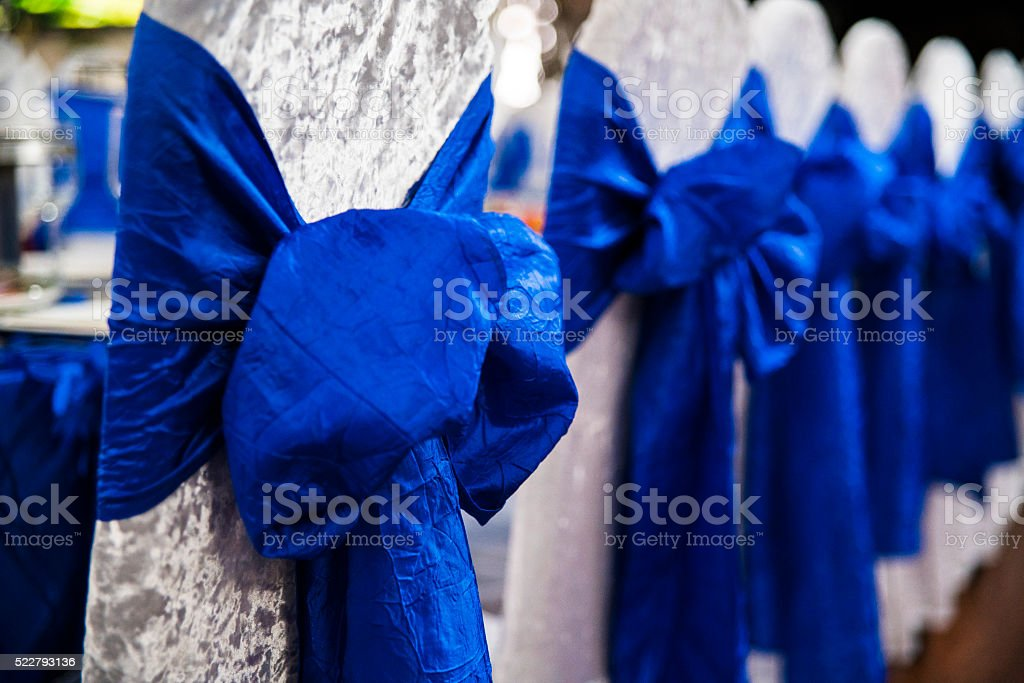 Restaurant's banquet room decorated for Bar Mitzvah stock photo