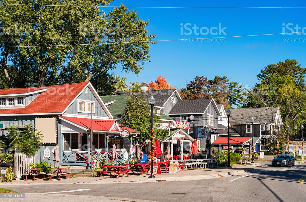 Restaurants in Bala Ontario Canada stock photo