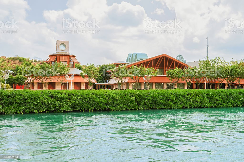 Restaurants in Sentosa Island in Singapore stock photo