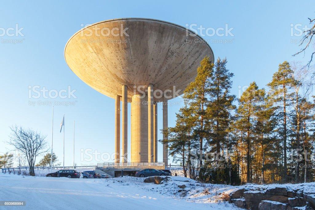 Restaurant-tower Haikaranpesa in Espoo, Finland stock photo