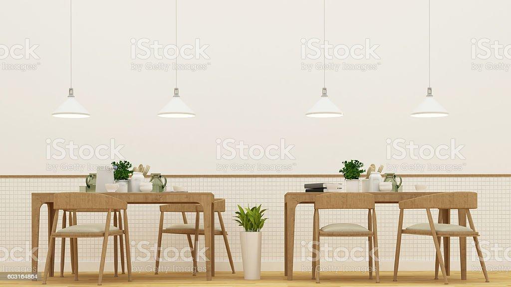 Restaurnat  or coffee shop - 3D Rendering stock photo