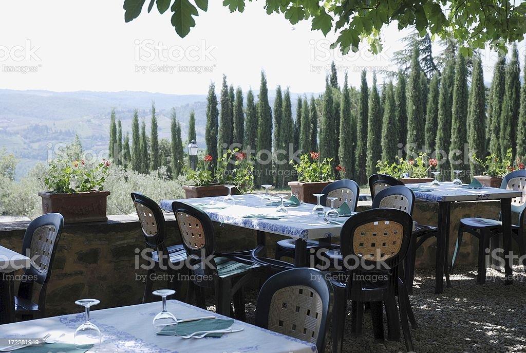 Restautant in Tuscany royalty-free stock photo