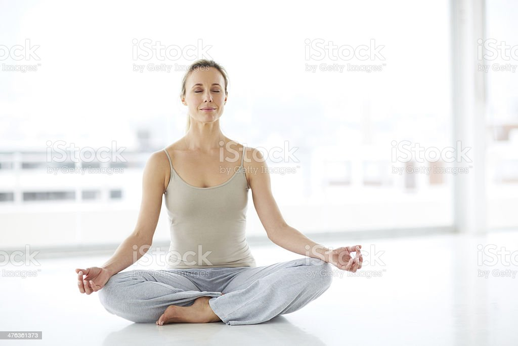 Rested and relaxed thanks to meditation royalty-free stock photo