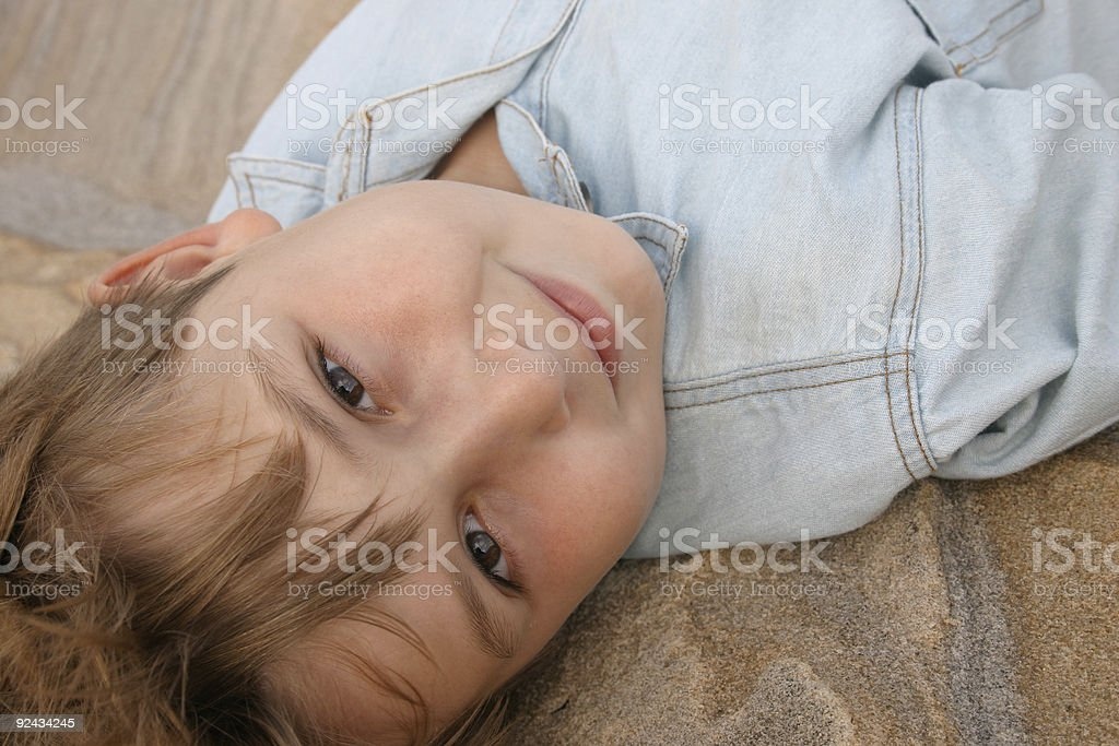 Restful gaze royalty-free stock photo