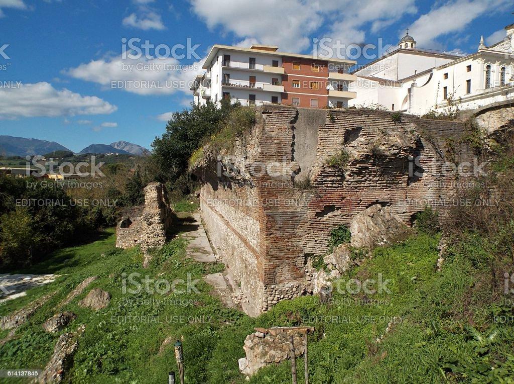 Resti del criptoportico romano stock photo