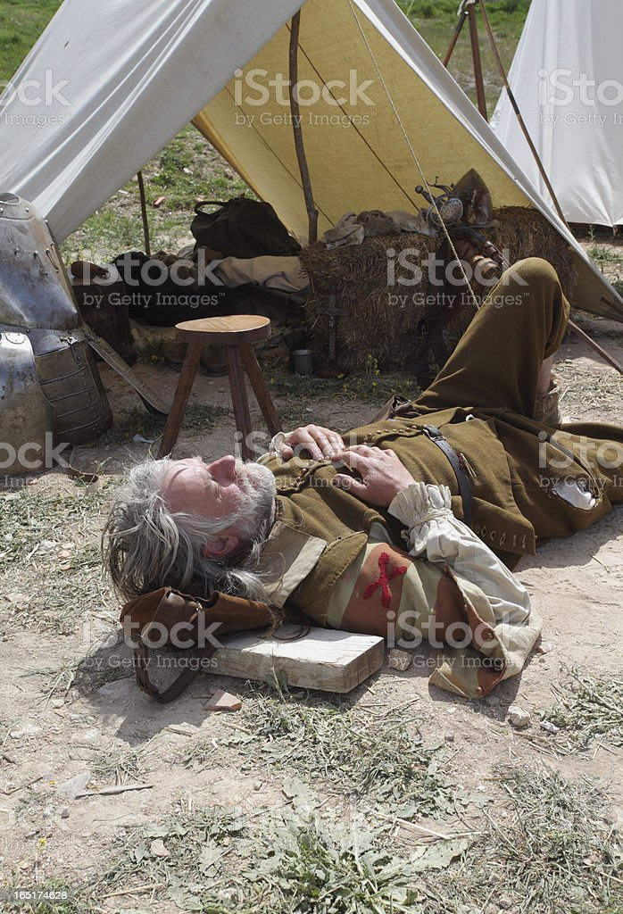 Resting after battle royalty-free stock photo