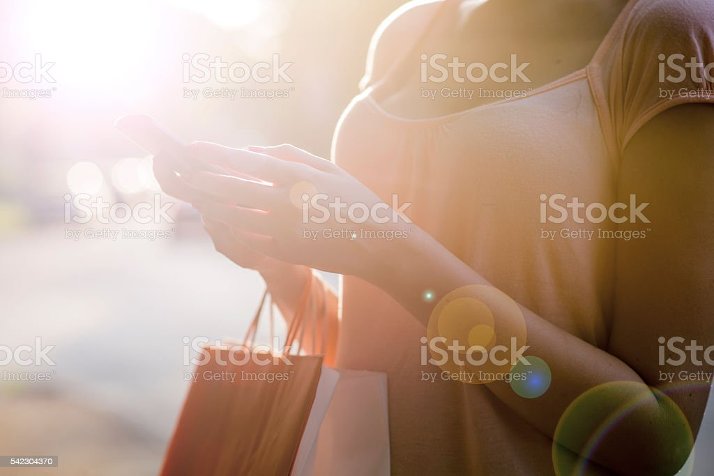 Resting After Shopping stock photo