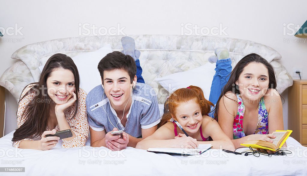 Resting at home together royalty-free stock photo