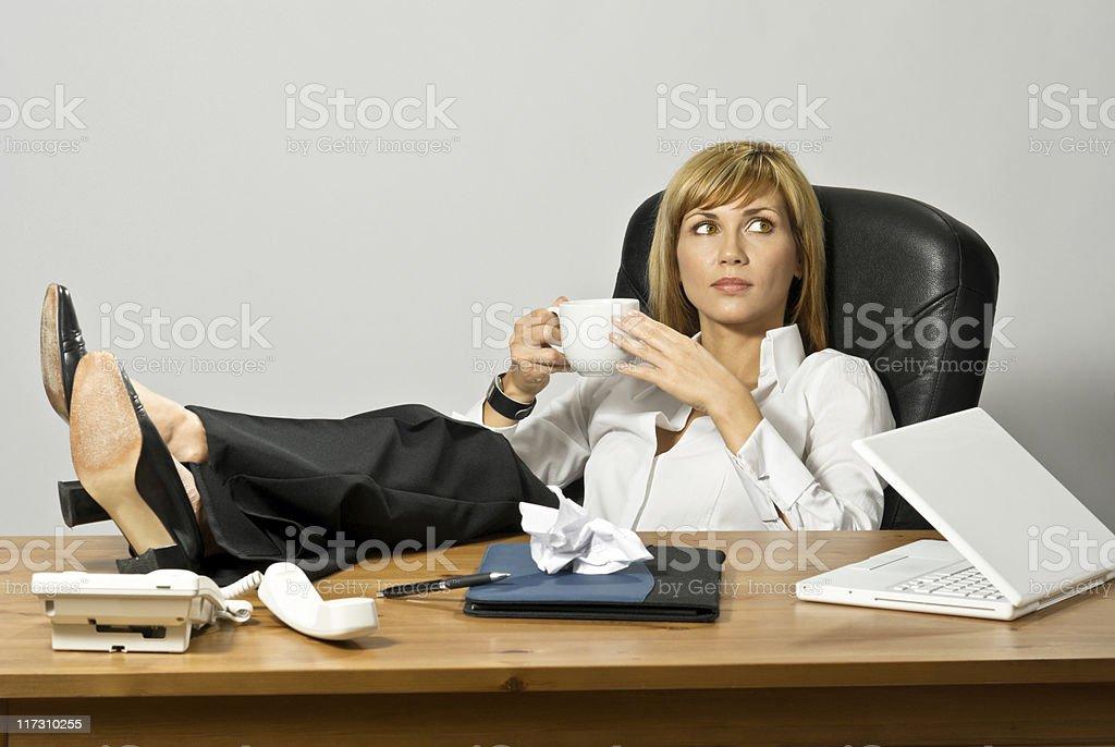 Resting Beautiful Business Lady royalty-free stock photo