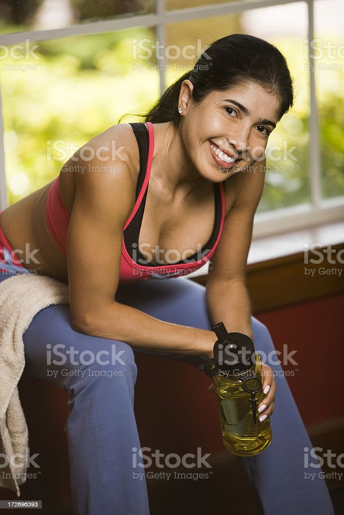 Resting Between Sets royalty-free stock photo